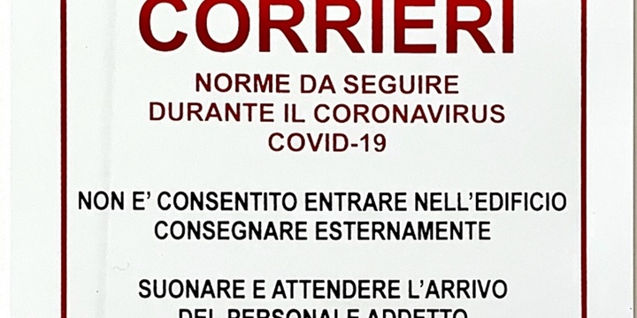 Cartello corrieri Covid-19